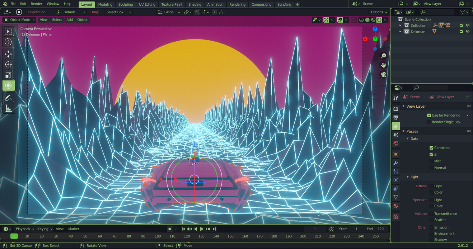 Digital Media and Design RIC neon game design