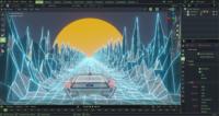Digital Media and Design RIC neon game